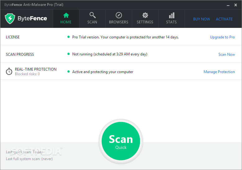 bytefence-anti-malware-giao-dien